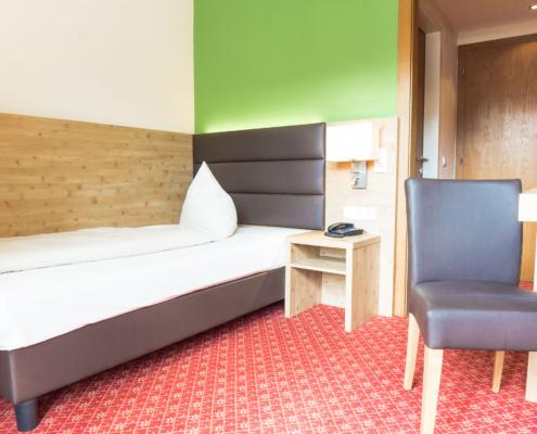 Modernes Einzelzimmer im Hotel Rössl