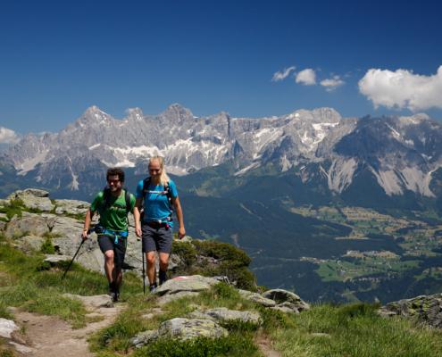 Wanderregion in den Schladminger-Tauern und dem Dachstein Massiv